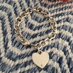 James Avery Classic Cable Heart Bracelet 7.5